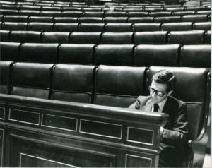 El aislamiento de Suárez fue a más en la legislatura que se inició en 1979