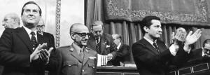 Aprobación por las Cortes heredadas de Franco, de la Raforma Política, A favor: 425, en contra: 59, abstenciones: 13, ausencias: 34