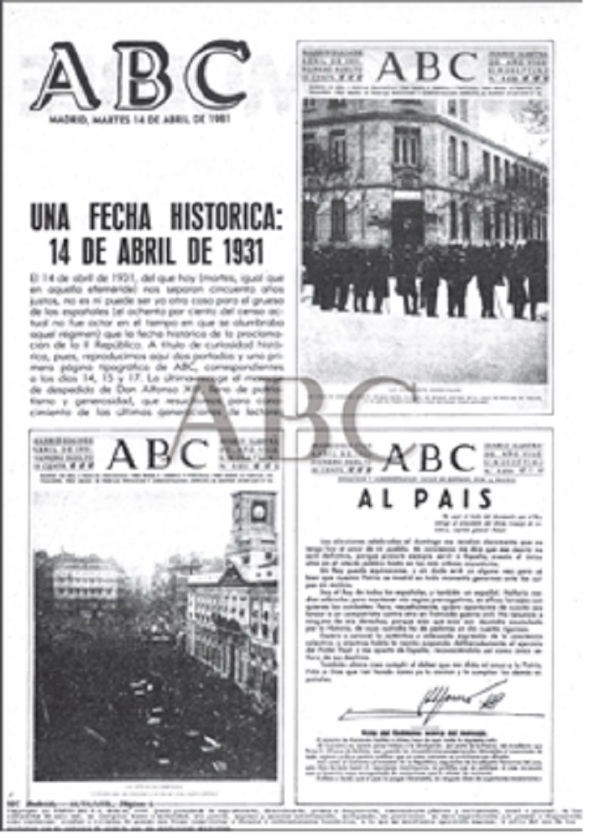 Diario ABC 14, 15 y 17 de abril 1931