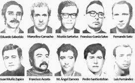 Los dirigentes de CCOO detenidos y encarcelados en 1972 todos ellos militantes del PCE