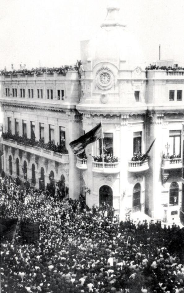 En Ceuta frente al Ayuntamiento