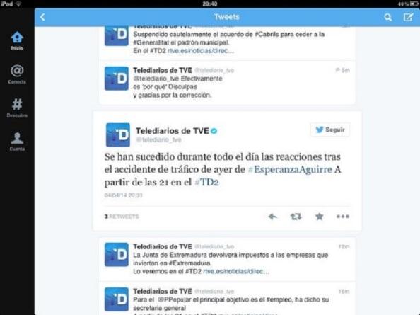Según la objetividad de RTVE se trata de un accidente