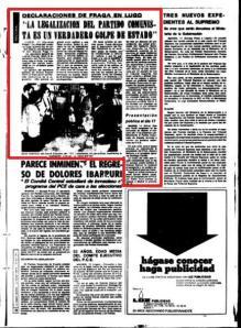"""El """"demócrata"""", Manuel Fraga, cómo no, calificó esa legalización de Golpe de Estado."""