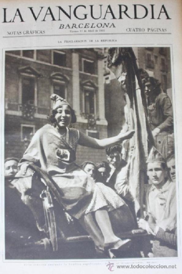 Diario La Vanguardia de Barcelona 14.04.1931.