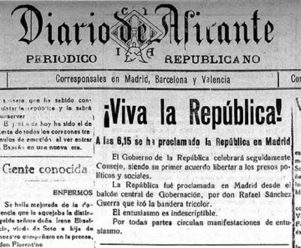 El Diario de Alicante de tendencia republicana de derecha