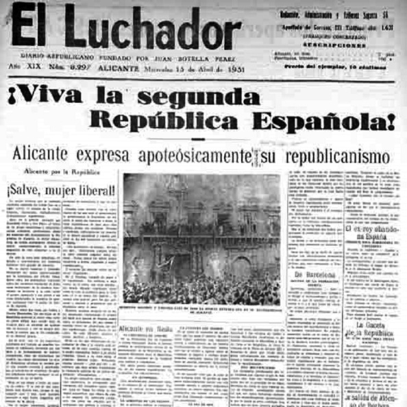 Diario El Luchador de Alicante de tendencia republicana de izquierda