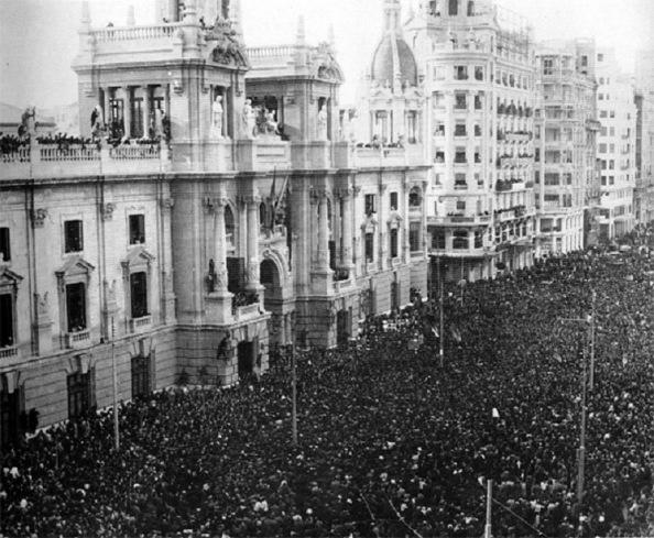 En Valencia en la plaza del Ayuntamiento.