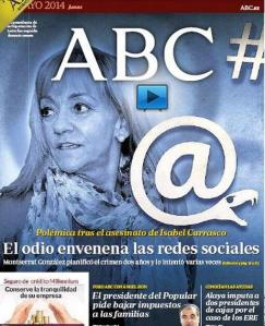 La impresentable portada del diario ABC del pasado 15 de mayo