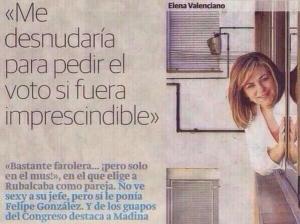 Elena Valenciano, nombrada a dedo un mes antes del Comité Federal, en una de sus profundas reflexiones europeistas.