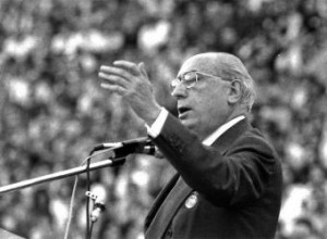 El profesor, bueno y honesto, don Enrique Tierno Galván