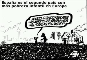 Prioridad de Rajoy rescatar, tras la banca, a las autopistas de peaje antes que rescatar a la infancia de la pobreza