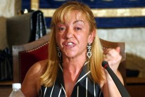 Isabel Carrasco en una de sus intervenciones