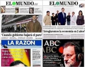 Las mentiras de Rajoy en su prensa