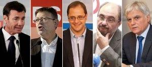 barones-socialistas-Tomas-Gomez-Madrid-Ximo-Puig-Valencia-Cesar-Luena-Rioja-Javier-Lamban-Aragon-Jose-Miguel-Perez-Canarias