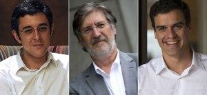 Los tres candidatos a la secretaría general del PSOE