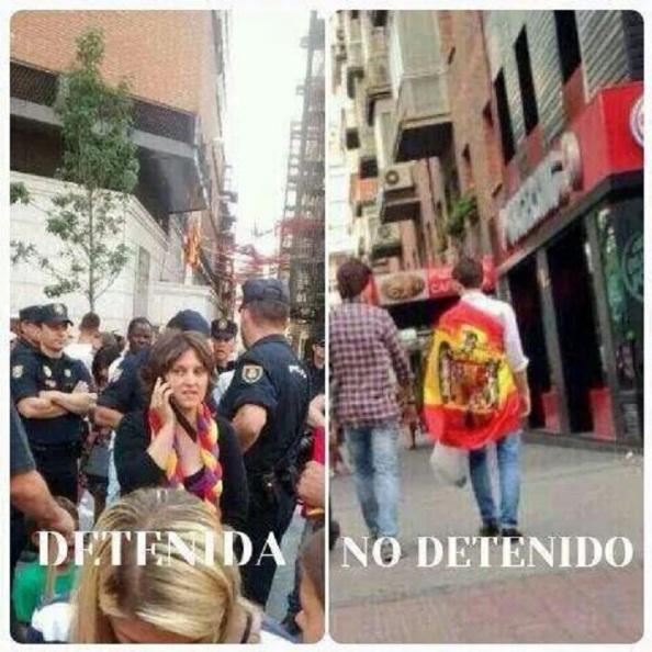 La doble vara de medir de la policía la mañana de la Coronación en Madrid