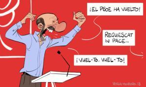 A pesar de lo que dijera Rubalcaba, el PSOE siguió ausente