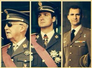 Los tres últimos Jefes de Estado, uno dictatorial, sin refrendo directo por el cuerpo electoral