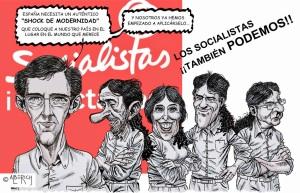 """LA renovación pendiente del PSOE, que solo parece que pasa por ponerse la coleta de """"Podemos"""""""