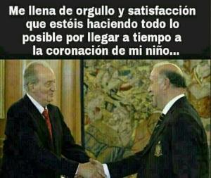 El coRey Juan Carlos I hace lo mismo con Del Bosque
