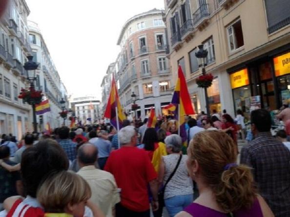 MAnifestación a favor de la IIIº Republica en Málaga, 08.06.2014