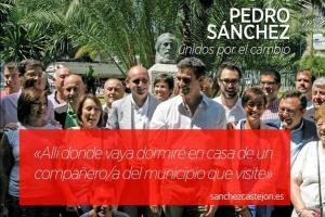 Pedro Sánchez, con sus eslóganes superficiales, apoyado decaradamente por los socialistas de Susana Díaz en Málaga