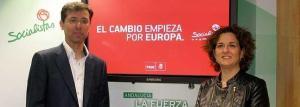 Los responsables electorales de las Europeas: Cristóbal Fernández y Pilar Serrano