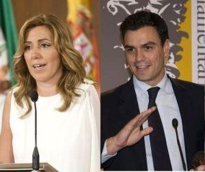 Susana Díaz y su testaferro, Pedro Sánchez