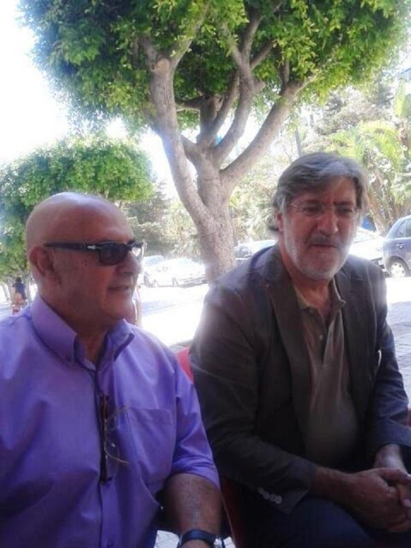 Pérez Tapias en su visita a Málaga, aseverándome que su candidatura y programa es muy diferente a la de los otros aspirantes, y que en coherencia no habrá pactos ni enguajes y que venza el que la militancia decida.