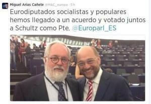 Tuit de Cañete. Amigos para siempre. Cañete y Schulz