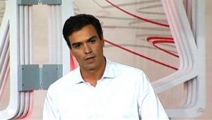 Pedro Sánchez Pérez-Castejón, en el debate a tres prometiendo que habrías primarias abiertas en el PSOE a la presidencia del Gobierno y que se presentaría