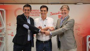 Los tres candidatos a la secretaría general del PSOE y un solo vencedor: los aparatos de los barones