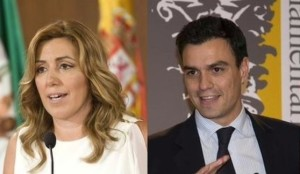Susana Diaz y Pedro Sánchez