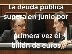La deuda pública de España, imparable.