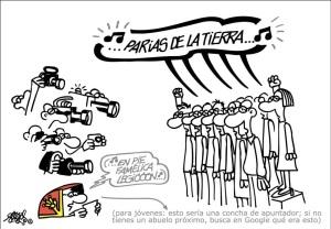 Un PSOE poco reconocible que necesita un apuntador para recordar La Internacional