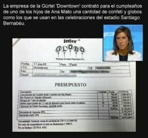 Ana Mato y las facturas pagadas por la mafia del Gürtel