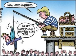 Merkel, a rio recortado, ganancia de pescadora