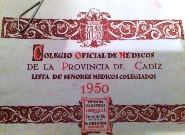 Colegio de médicos Cádiz 1950