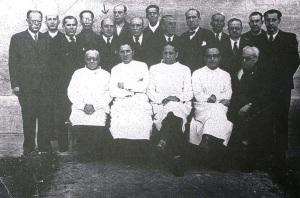Sanitarios republicanos en la cárcel de Burgos