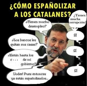 Una lectura peculiar de cómo españolizar a Cataluña