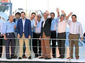 Rajoy con malas compañías (Fabra, Camps, Ricardo Costa, Rambla...)