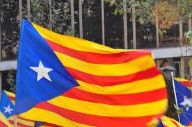 La senyera estelada, bandera ddel independentismo catalán.