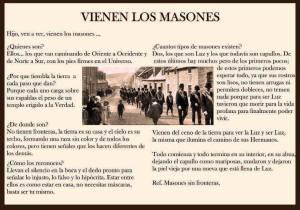 Explicación sobre los masones