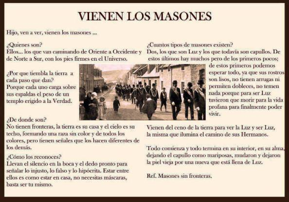 vienen los masones Montero