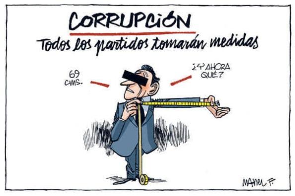Dijeron tomar medidas contra la corrupción, a la vez que se echaron en manos de más corrupción