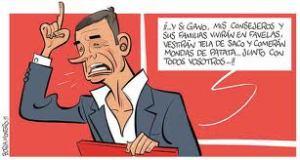 Tomás Gómez prometiendo, cuando la cuestión es la fata de credibilidad