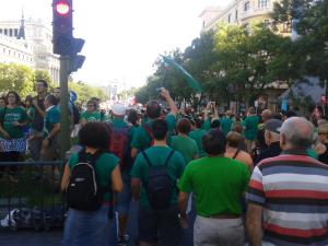 La manifestación del 15S en calle Alcalá. de Puerta del Sol hacia Cibbeles