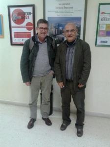 Con el catedrático Juan Torres López, antaño compañero estudiante de Económicas en Málaga y ahora contribuyendo a EconomistasXAndalucía