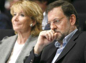 Mariano Rajoy y Esperanza Aguirre, dos físicas y químicas que no casan.