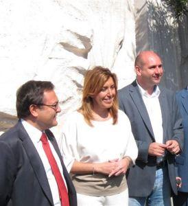 Susana Díaz con la mediocridad que dirige su fiel PSPE de Málaga, Miguel Ángel Heredia y Francisco Conejo